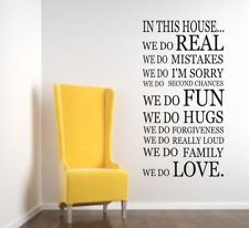 We Do In This House WALL STICKER KITCHEN Quote Art Decal