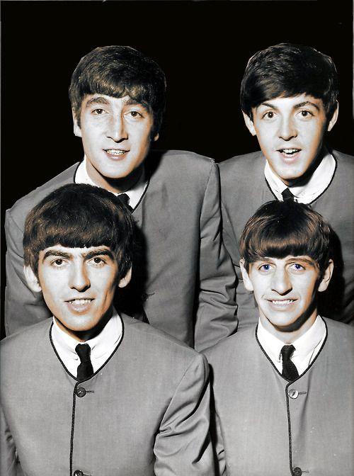 John Lennon Paul McCartney George Harrison And Richard Starkey Color Edit By Xlucylennonx On Tumblr