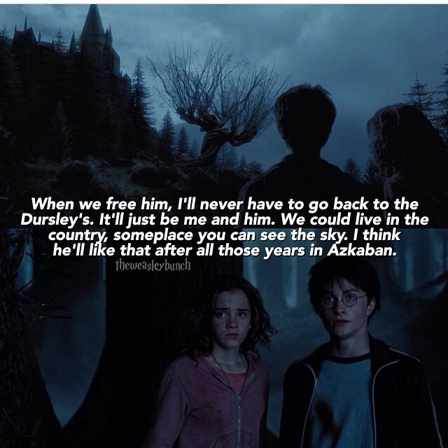 We Could Live In The Country Somewhere Where We Could See The Sky Harry Potter Quotes Azkaban Harry Potter