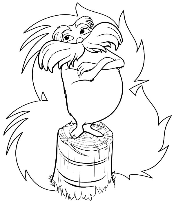 The Lorax Try To Protect Truffula Tree Coloring Pages