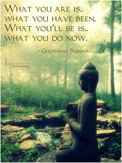 What you'll be is what you do now.