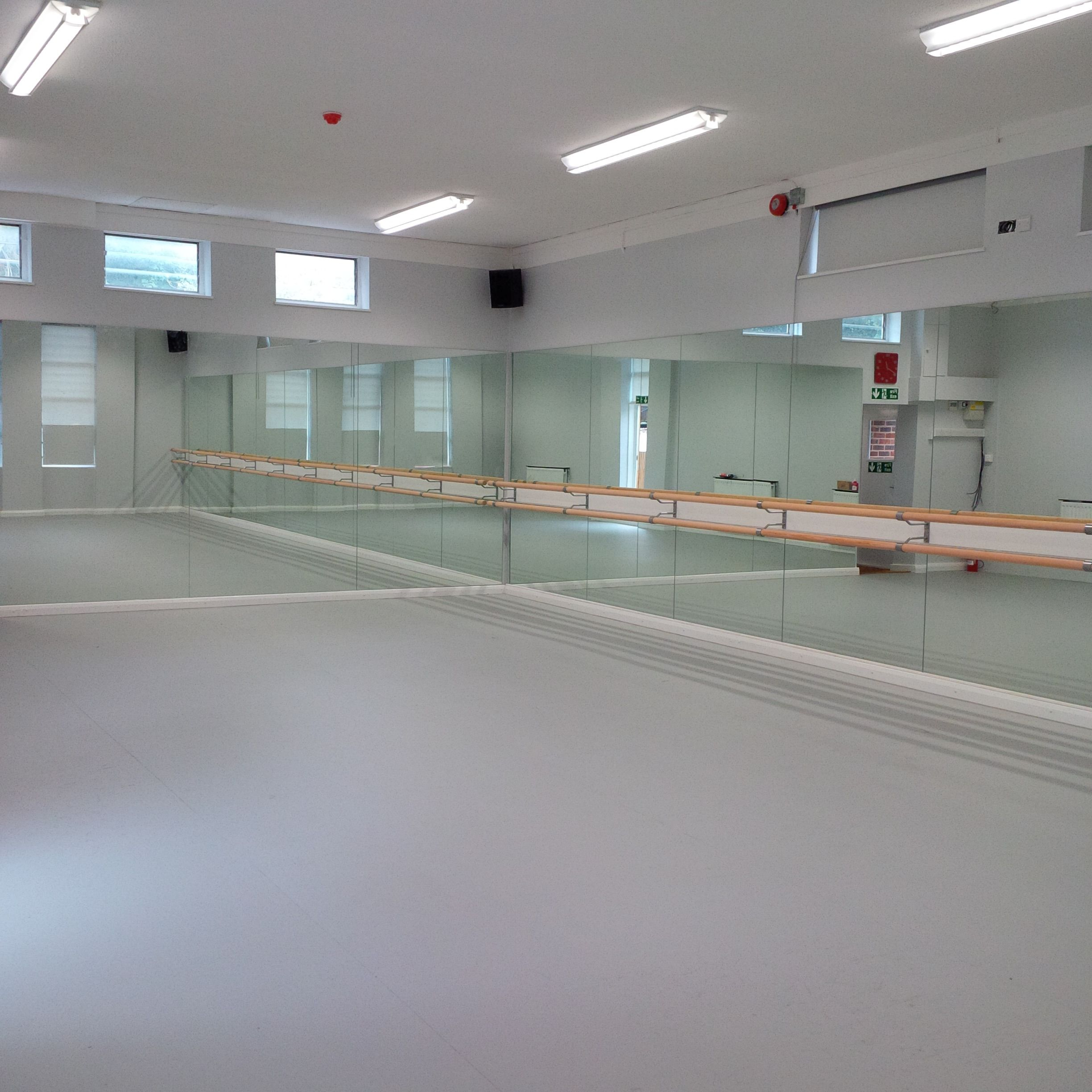 Captivating Installation Of Our ActiSprung Dance Floor, Optimax Studio Mirrors And  Endura Ballet Barres At Box