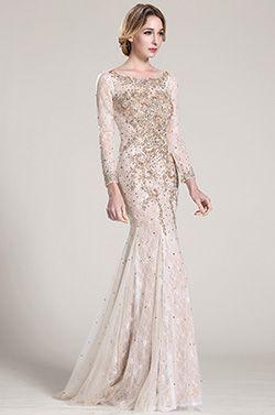 3b2f68ada81 Lange Ärmel Wulstig Spitze Formal Kleid Abschlussballkleid (C36152414)   Abendkleid  Ballkleid  eDressit  Mode