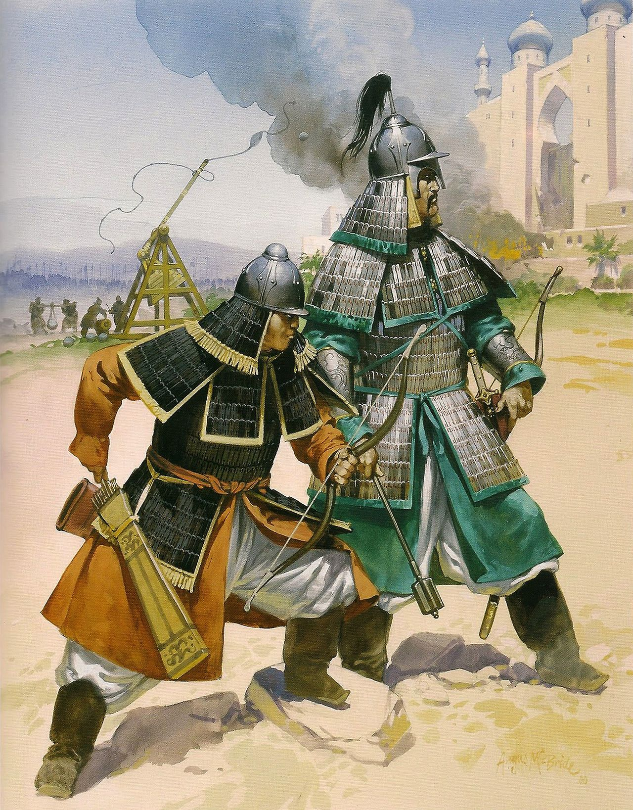 BRUDE'S WORLD : Mongolian Archers by Angus McBride, 2000