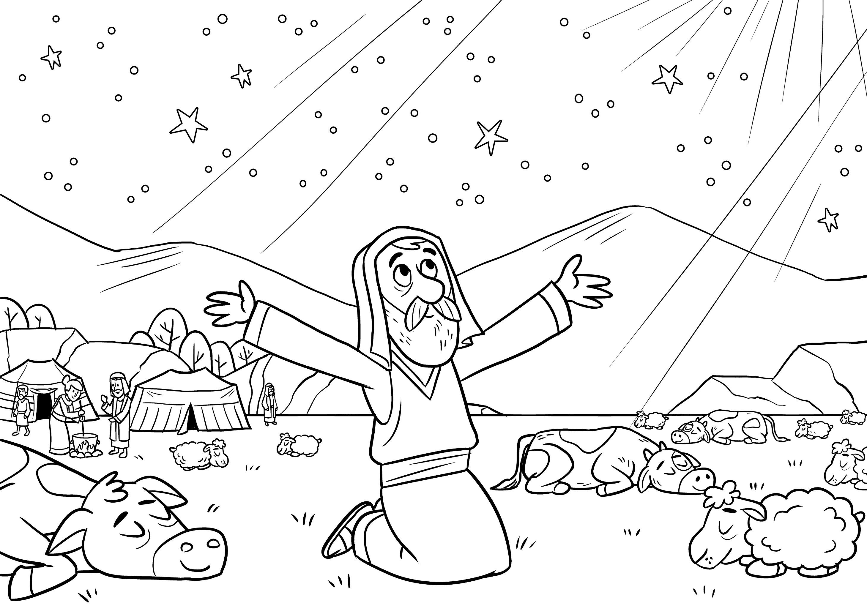 Abraham Coloring Page Bible Coloring Free Bible Coloring Pages