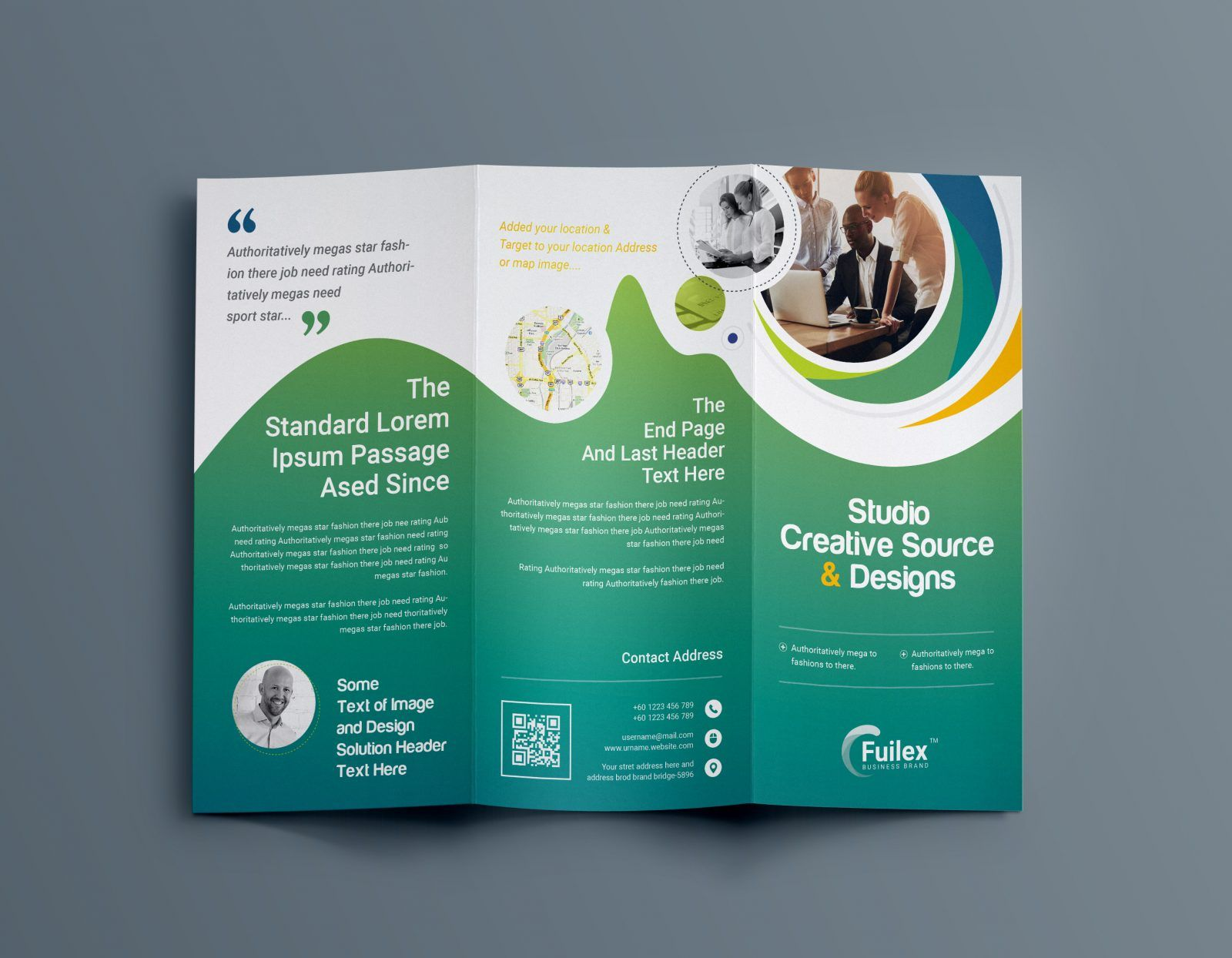 hypnosis professional tri fold brochure template 001203 graphic