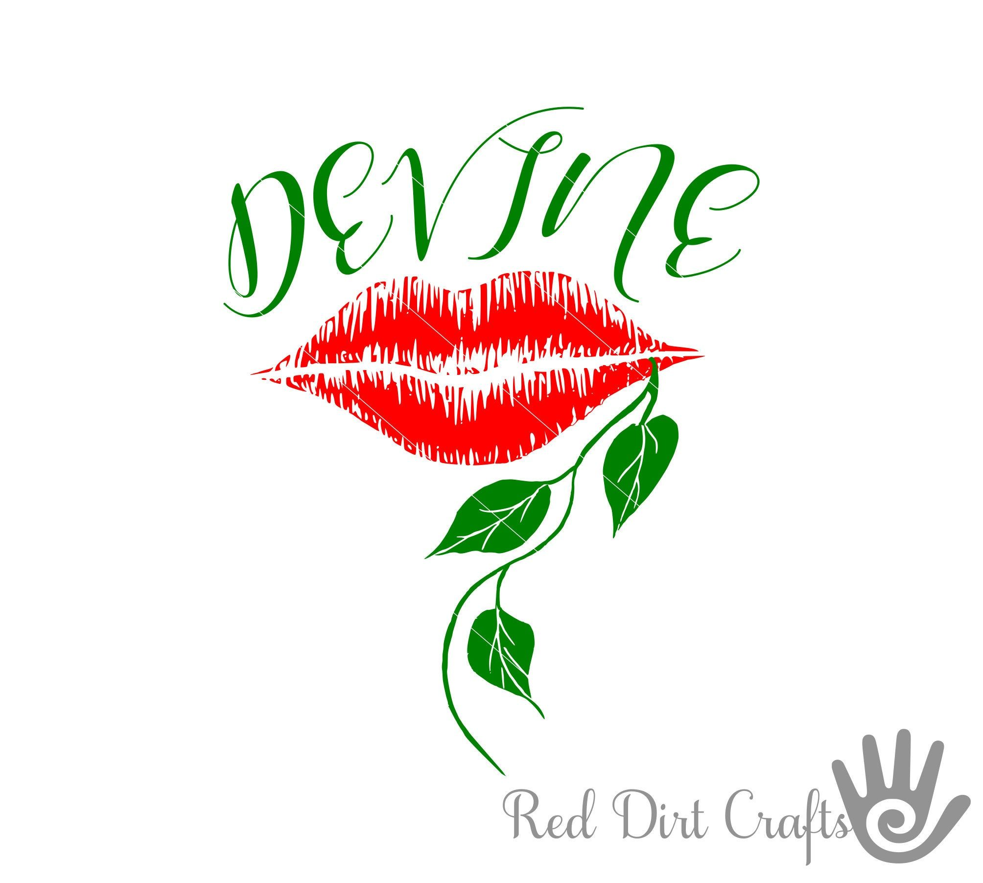Lips Are Devine Devine Lips Svg Lips Svg Svg Glitter Lips Lip