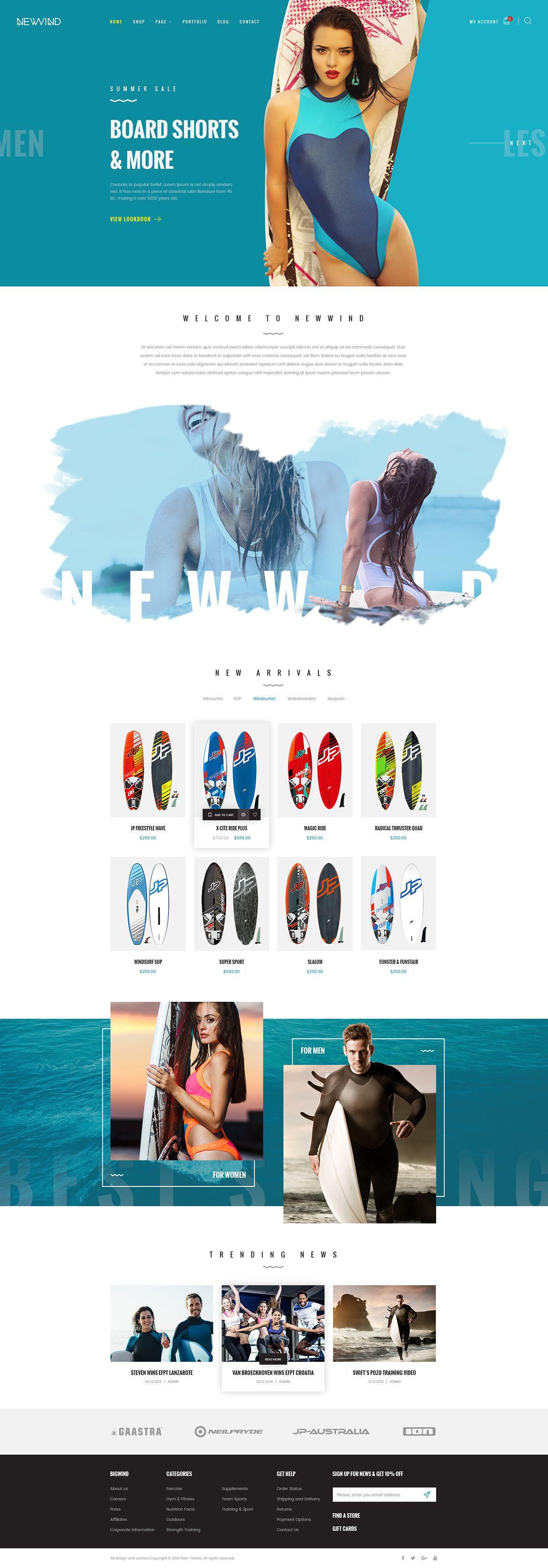 NewWind - eCommerce PSD Template on Behance