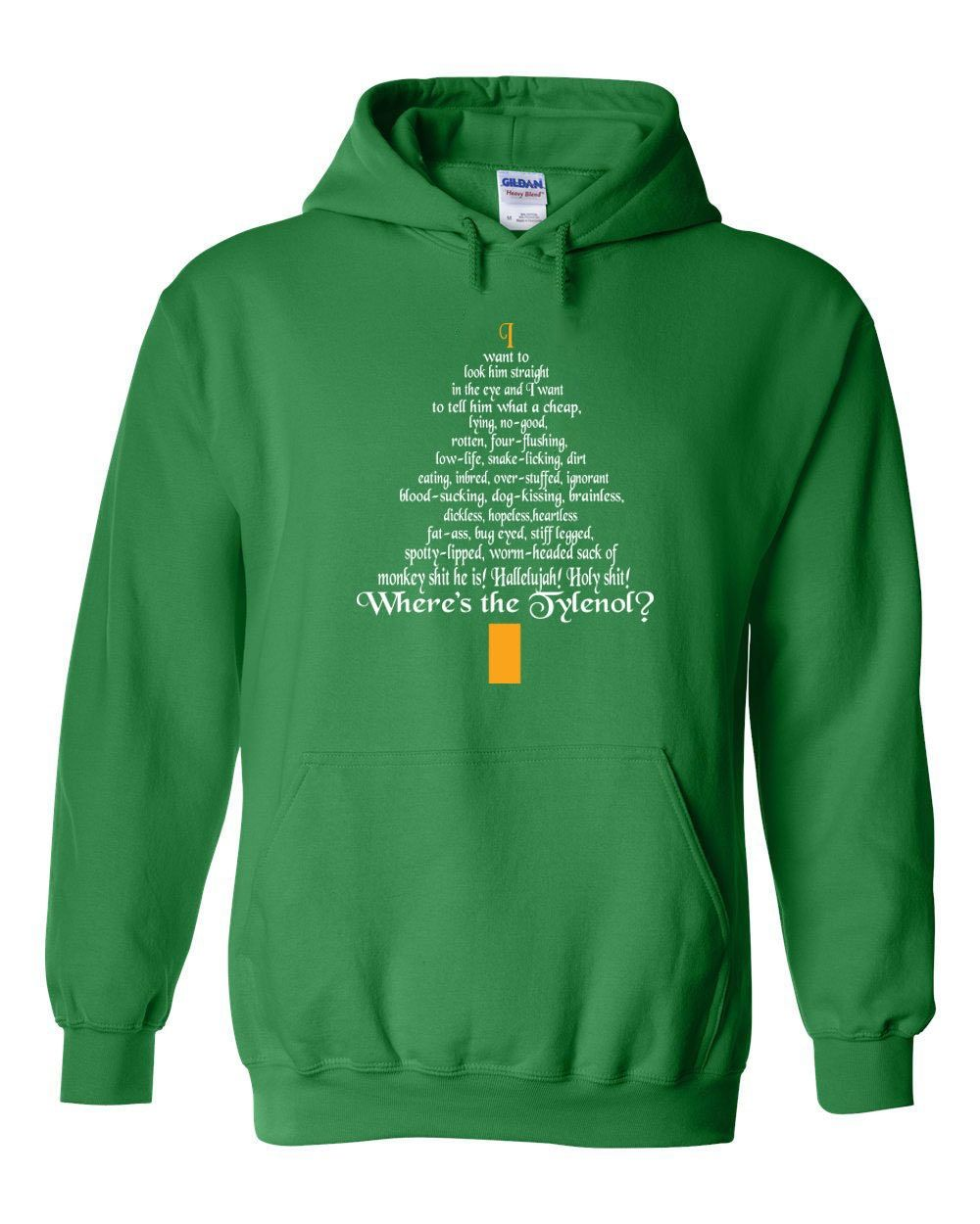 Clark Rant funny Christmas tree movie action 90s griswold holiday secret santa you serious - Clothing - Apparel - Hooded Sweatshirt Hoodie