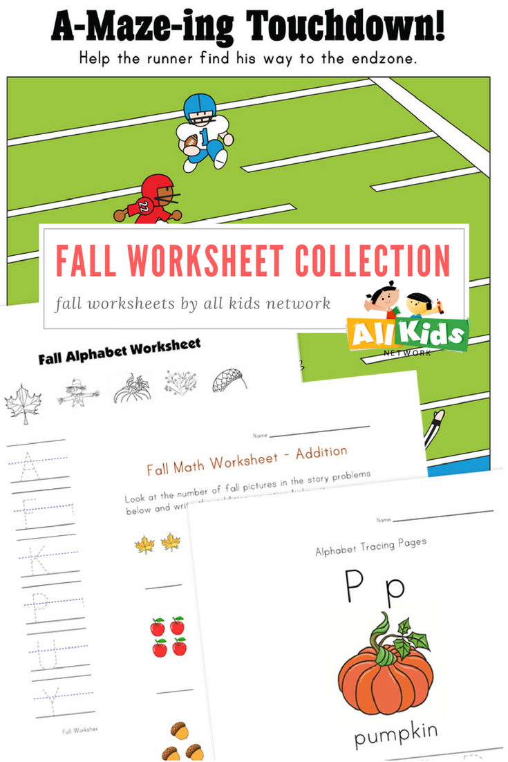 Visit our Fall Worksheet Collection for activities from tracing and ...
