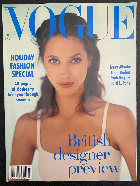 VOGUE July 20 UK   Etsy in 20   Christy turlington, Vogue ...