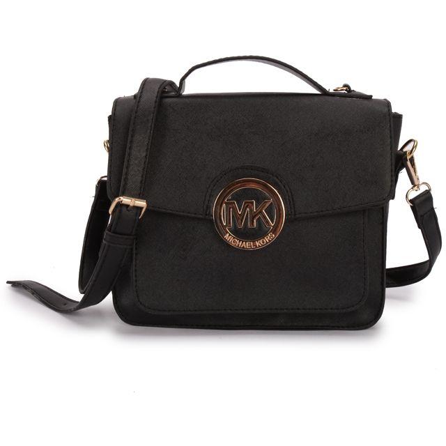 Michael Kors Big Logo Medium Black Crossbody Bag