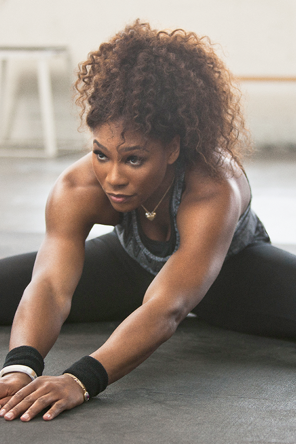 Stretch it out before trying #tennis player Serena Williams' new workout on #NTC. #training #nike