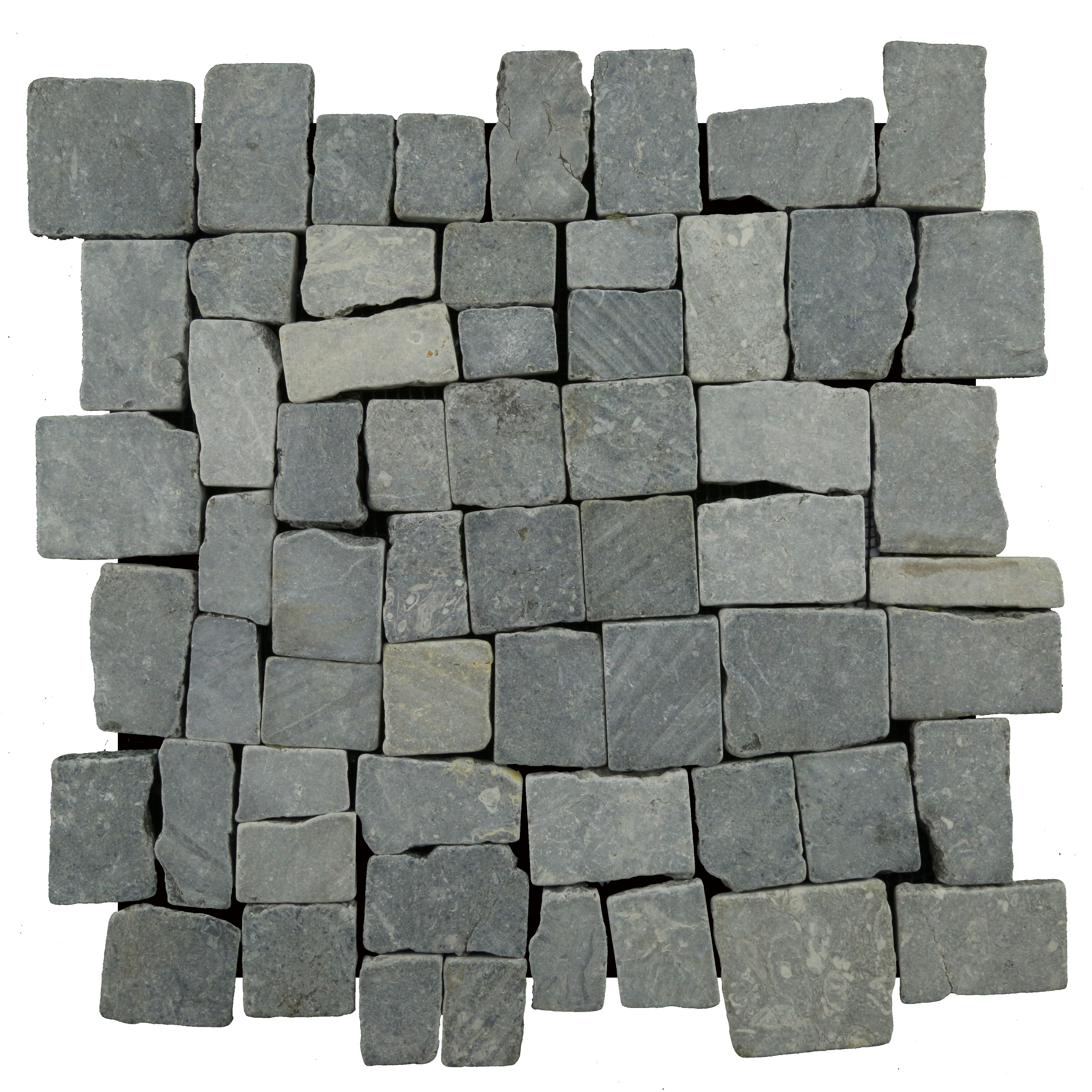 Easy To Install Mesh Backed Interlocking Natural Stone Tile Made Out Of High Quality Indonesian Grey Marb Mosaic Tiles Stone Mosaic Tile Marble Mosaic Tiles