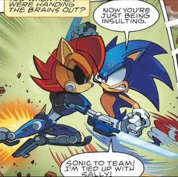 Sonic vs Mecha Sally #archiecomics