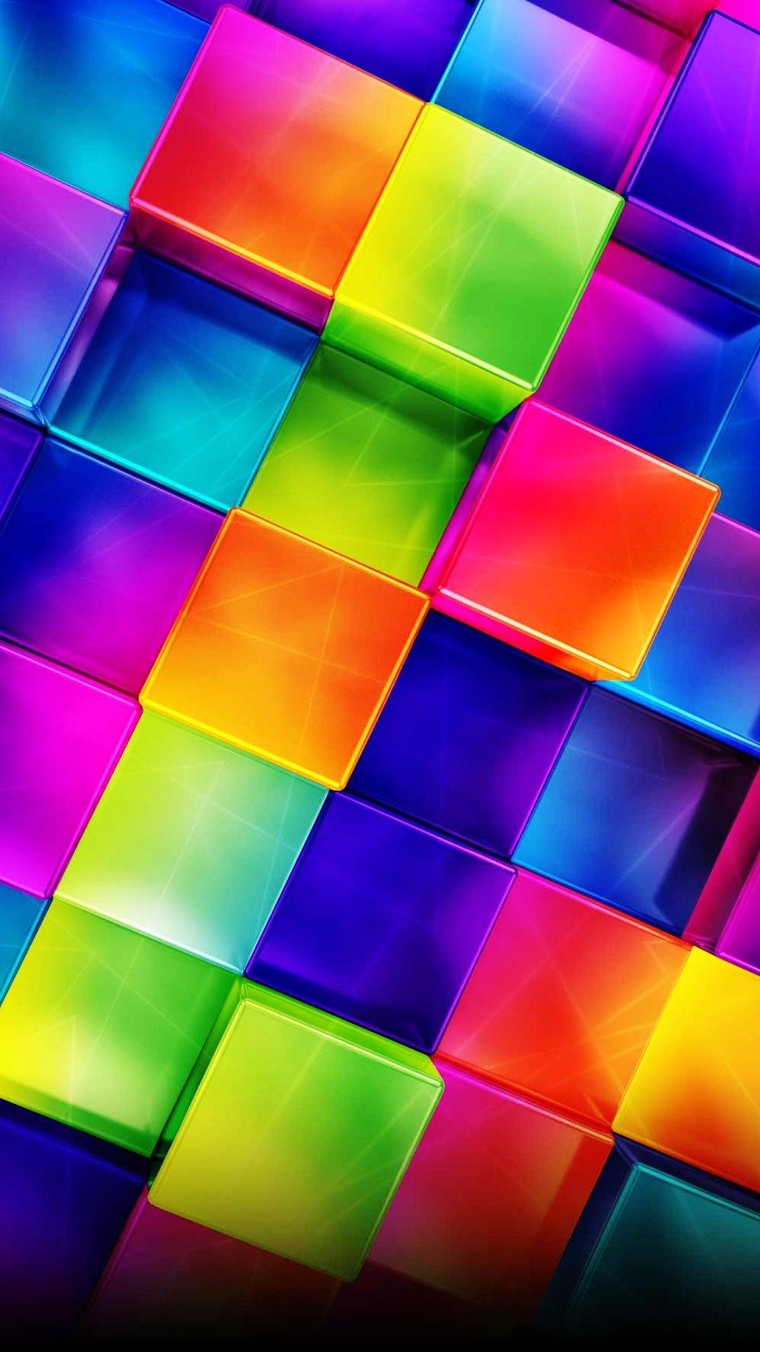 Find out 3D Colorful Geometric wallpaper on http
