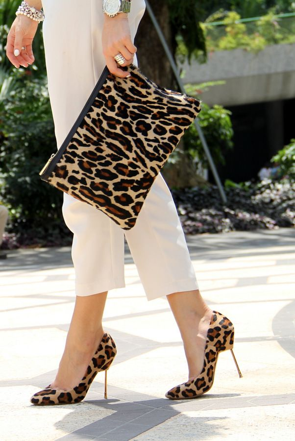 Cute Leopard print purse and heels