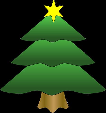 Free Image On Pixabay Tree Christmas Star Gold Xmas Cartoon Christmas Tree Holiday Christmas Tree Christmas