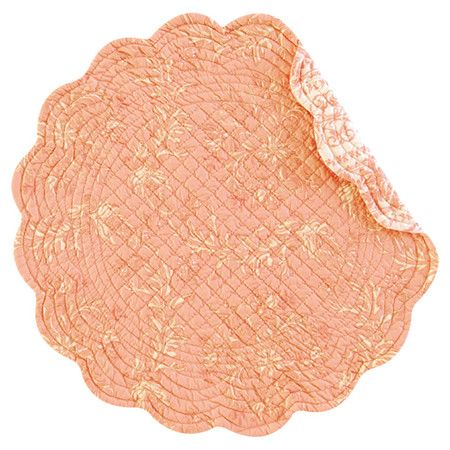Add a touch of charm to your dining room with this quilted cotton placemat, showcasing a scalloped edge and floral motif. Use it to offset colorful dishware,...