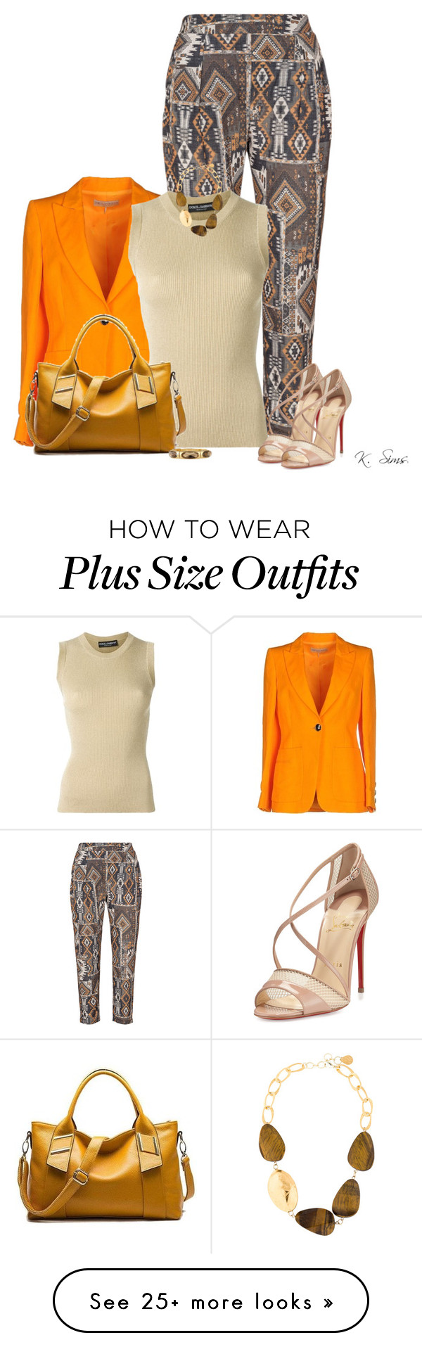 """""""I like the pants!"""" by ksims-1 on Polyvore featuring Elvi, Emilio Pucci, Dolce&Gabbana, Christian Louboutin, Emily & Ashley and Devon Leigh"""