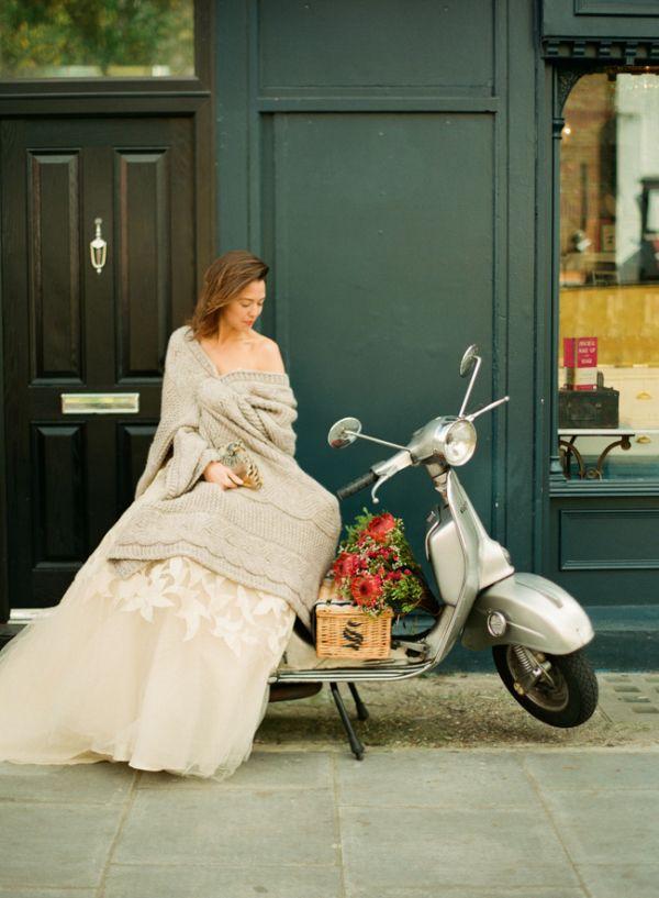 Bride on Vespa | photography by http://lindsaymaddenphotography.com/