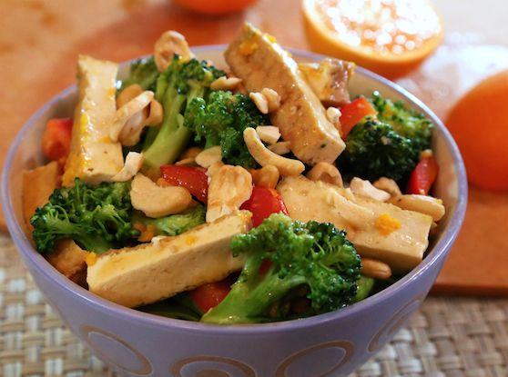 Orange-Glazed Tofu and Broccoli | dinner | Broccoli recipes