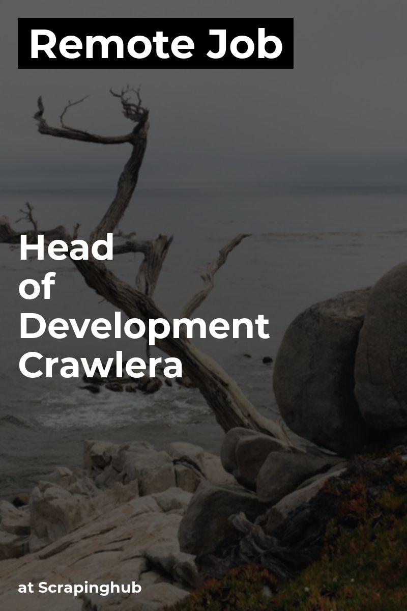 Remote Head of Development Crawlera at Scrapinghub