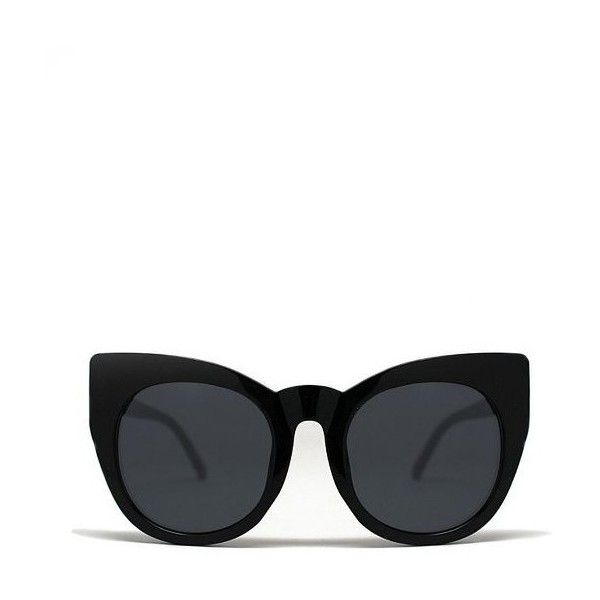 Quay Eyeware Quay Cha Cha in Black ($45) ❤ liked on Polyvore featuring accessories, eyewear, sunglasses and black