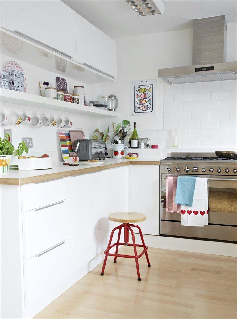 Cocina blanca | Cocinas | Pinterest | Cocina blanca, El gabinete y ...