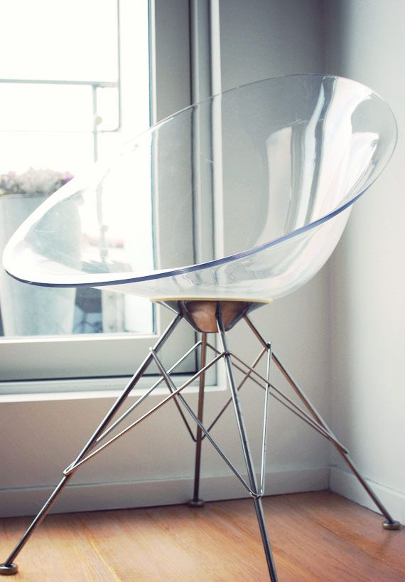transparent ero s chair by philippe starck see through beauty kartell loves colours. Black Bedroom Furniture Sets. Home Design Ideas