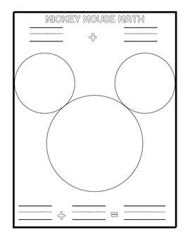 Mickey Mouse Math Classroom Math Activities Math Activities Preschool Learning Centers Preschool