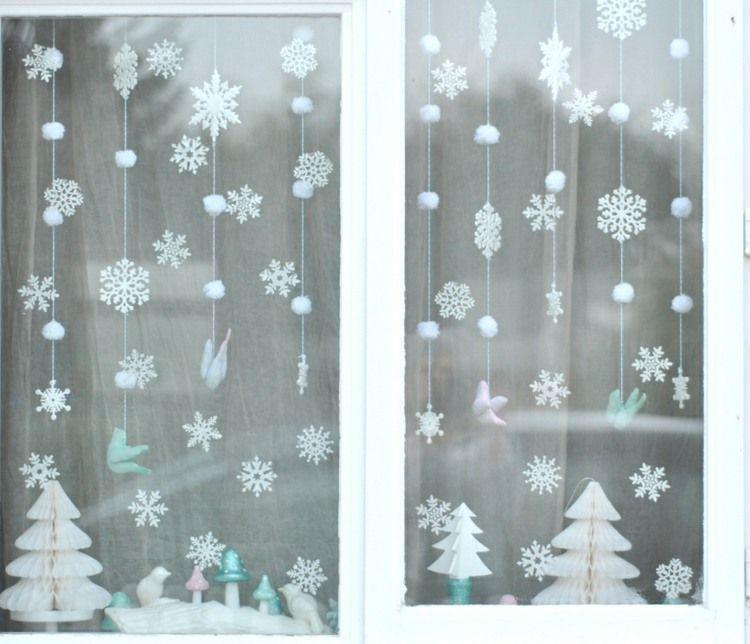 Fensterbilder aus transparentpapier ausschneiden schneefl cke advent pinterest - Fensterbilder weihnachten ...