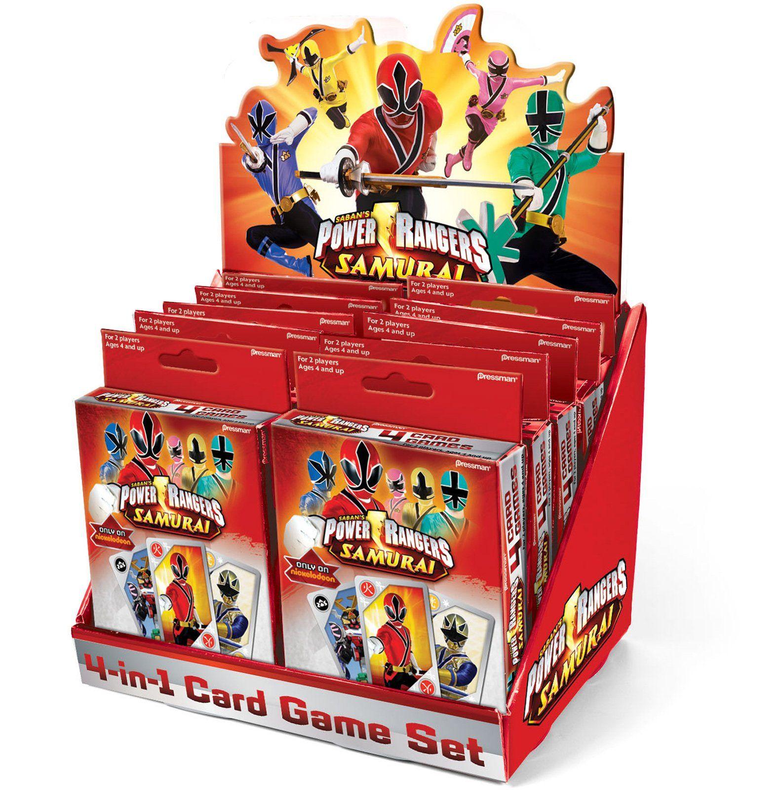 Power Rangers Samurai 4 in 1 Card Game, 85593 Seany