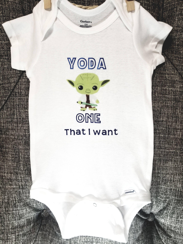 Yoda one that I want baby onesie Star wars onesie Star wars