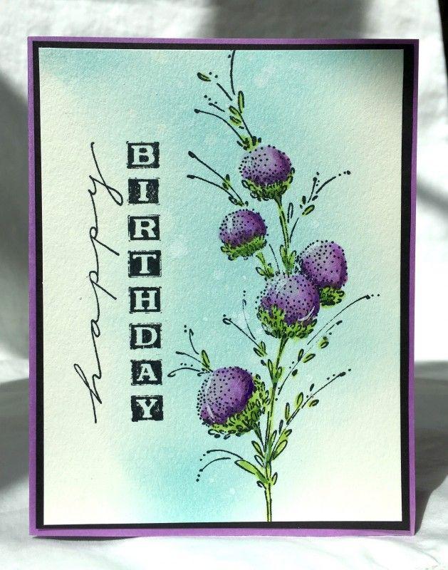 Photo of Blumengeburtstagswünsche von Pam MacKay – Karten und Papierhandwerk bei Splitcoaststampers
