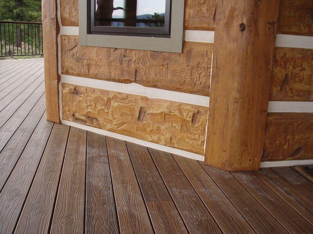 3x8 log siding hand hewn pine - Golden Colorado Residence Profile 16 Hand Hewn Everlog Concrete Log Siding