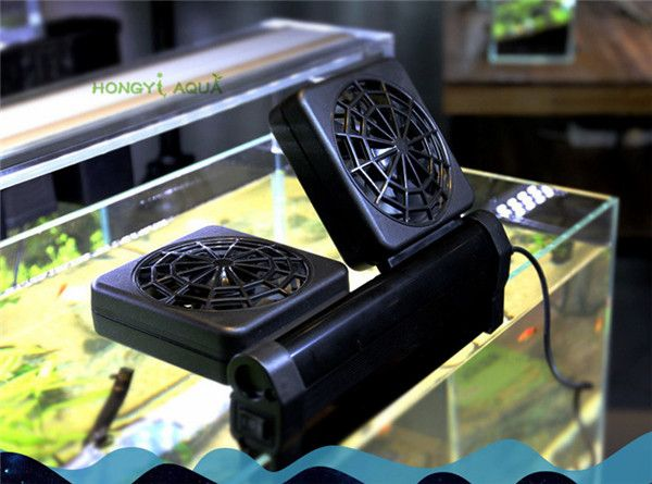 1 Piece Plastic Fish Tank Cooling Fan Mini Fan Aquarium Products