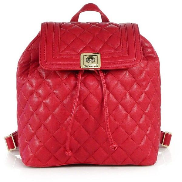 Love Moschino Quilted Faux Leather Backpack (11,575 PHP) ❤ liked ... : quilted faux leather backpack - Adamdwight.com