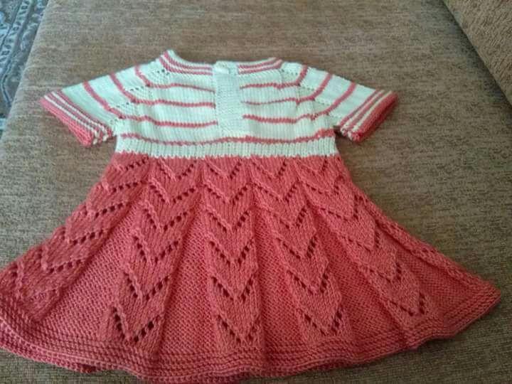 Yakadan Başlama Küçük Deniz Dalgası Örneğinde Kurdele Süslemeli Çocuk Elbisesi Yapımı. 1 yaş 44