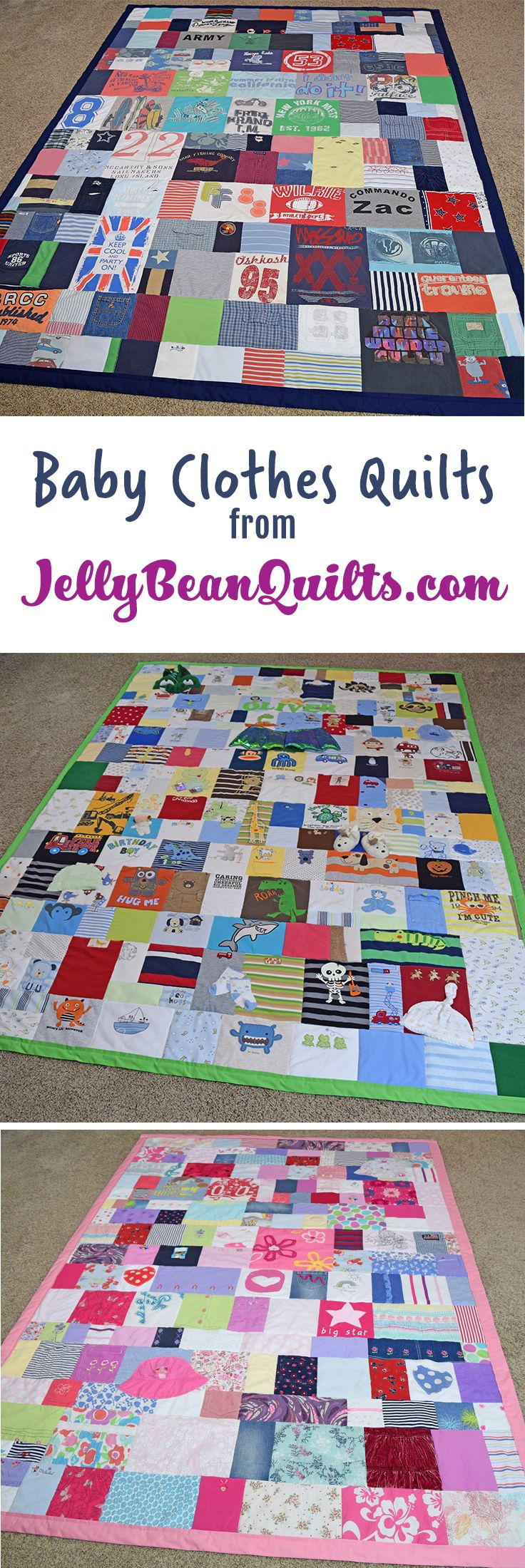 Baby clothing quilts from baby