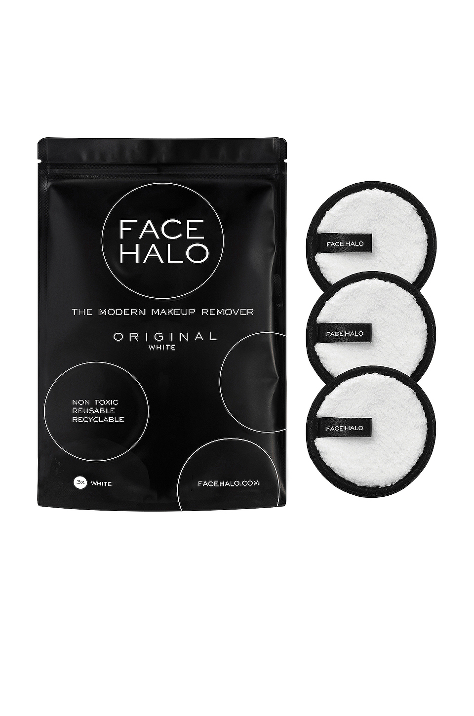 FACE HALO 3 Pack in Original White REVOLVE Makeup