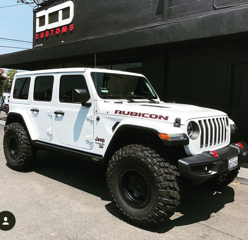 White Lifted Wrangler Jeep With Black Rims Jeep Wrangler Unlimited Jeep Wrangler Jeep