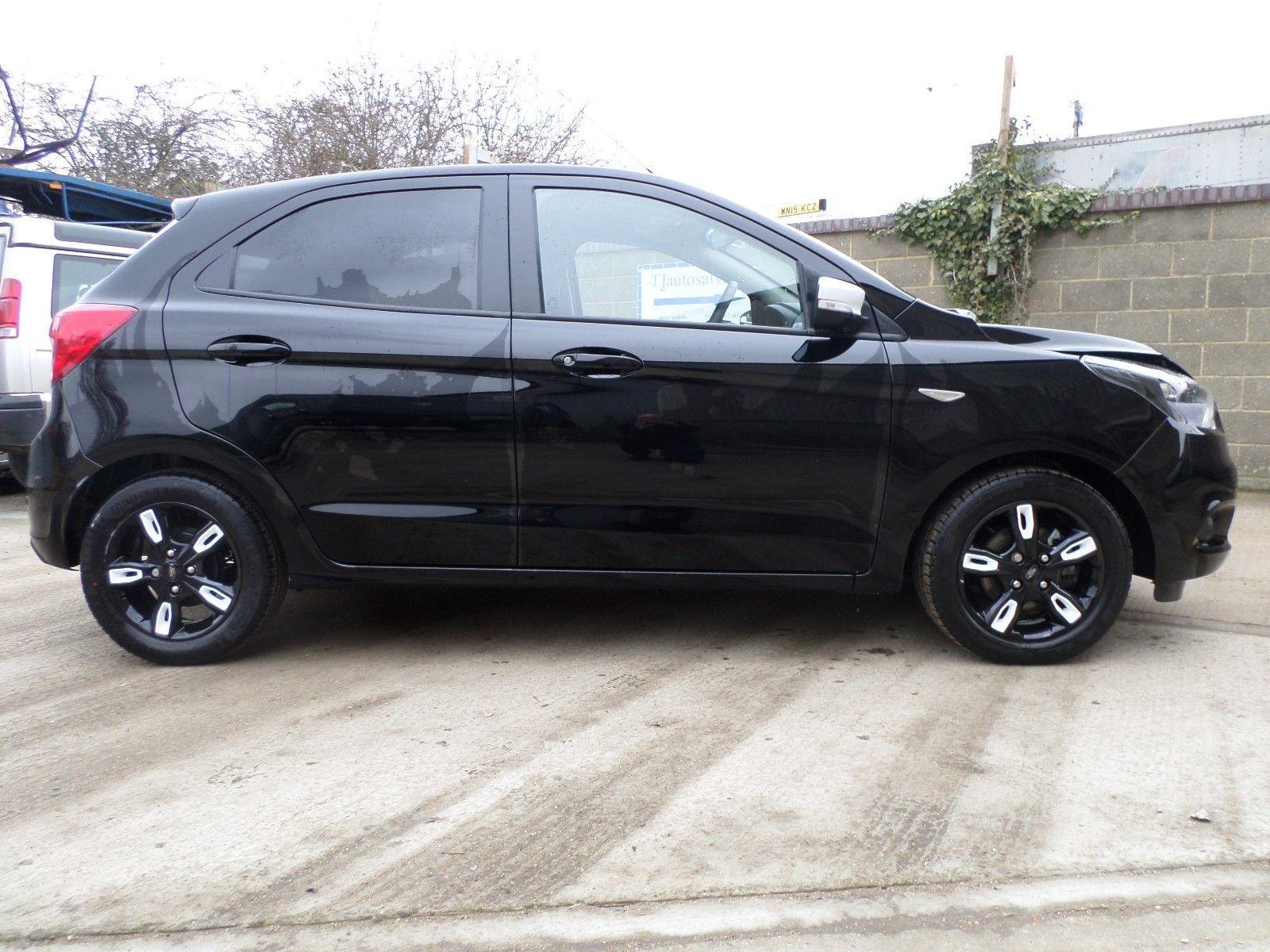 Ford Ka Zetec Black Edition  Door Damaged Salvage Drives  Mile