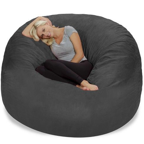 Astonishing Relax Sacks Relax Sack 6 Ft Huge Memory Foam Bean Bag In Machost Co Dining Chair Design Ideas Machostcouk