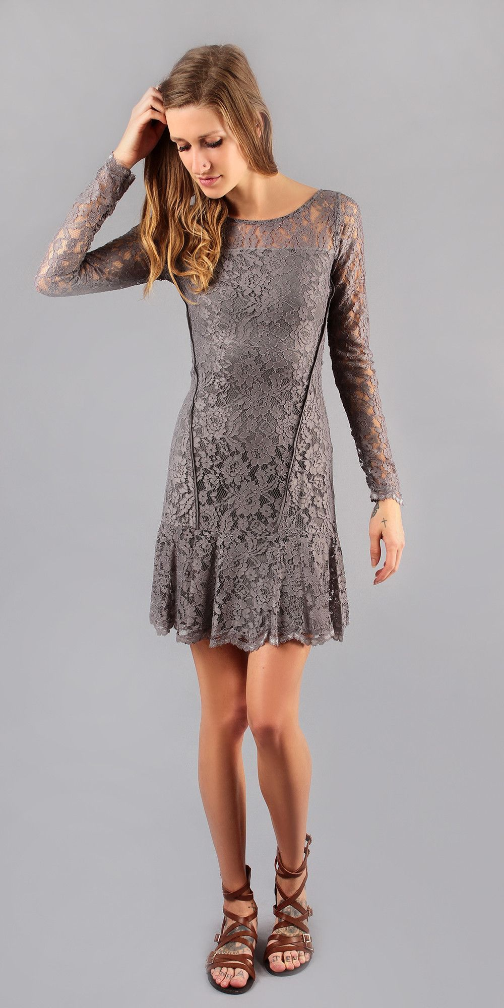 Grey floral lace dress products pinterest floral lace dress