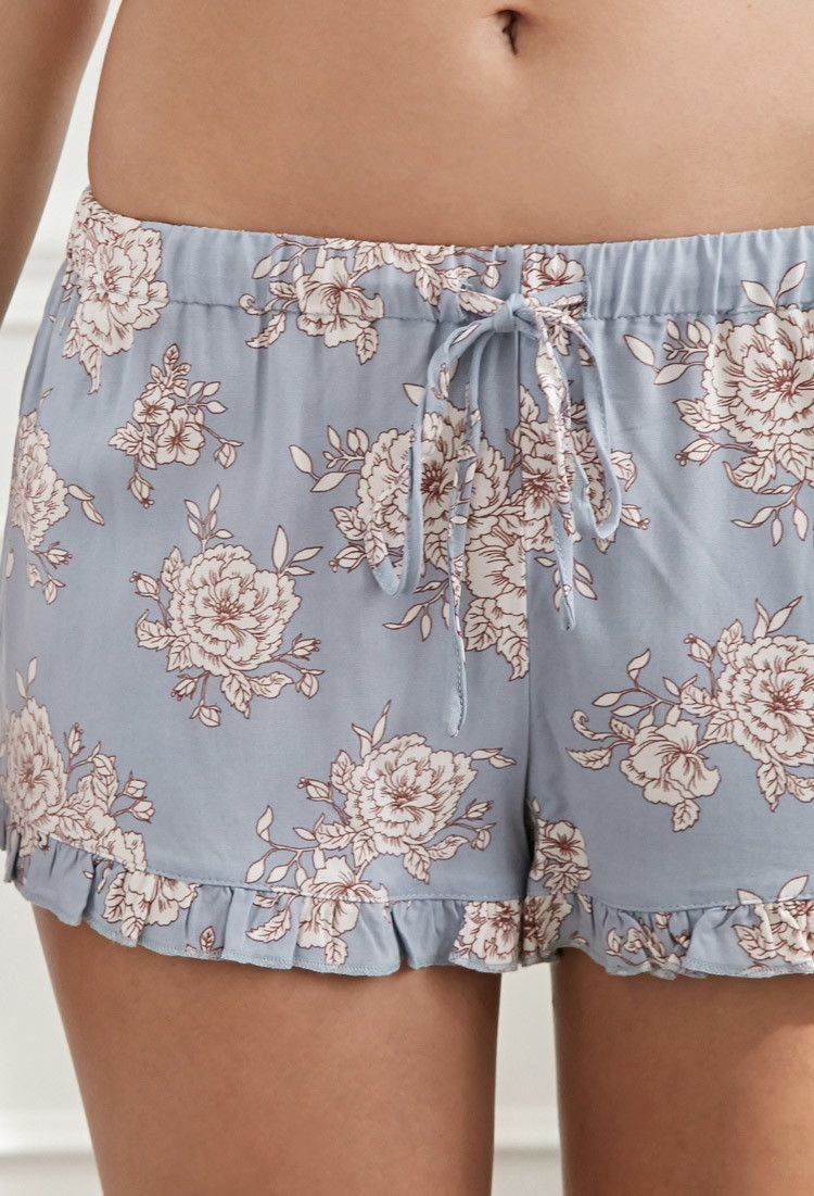 Ruffled Floral PJ Shorts
