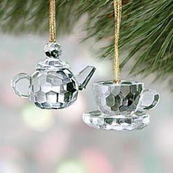 Crystal teapot ornaments