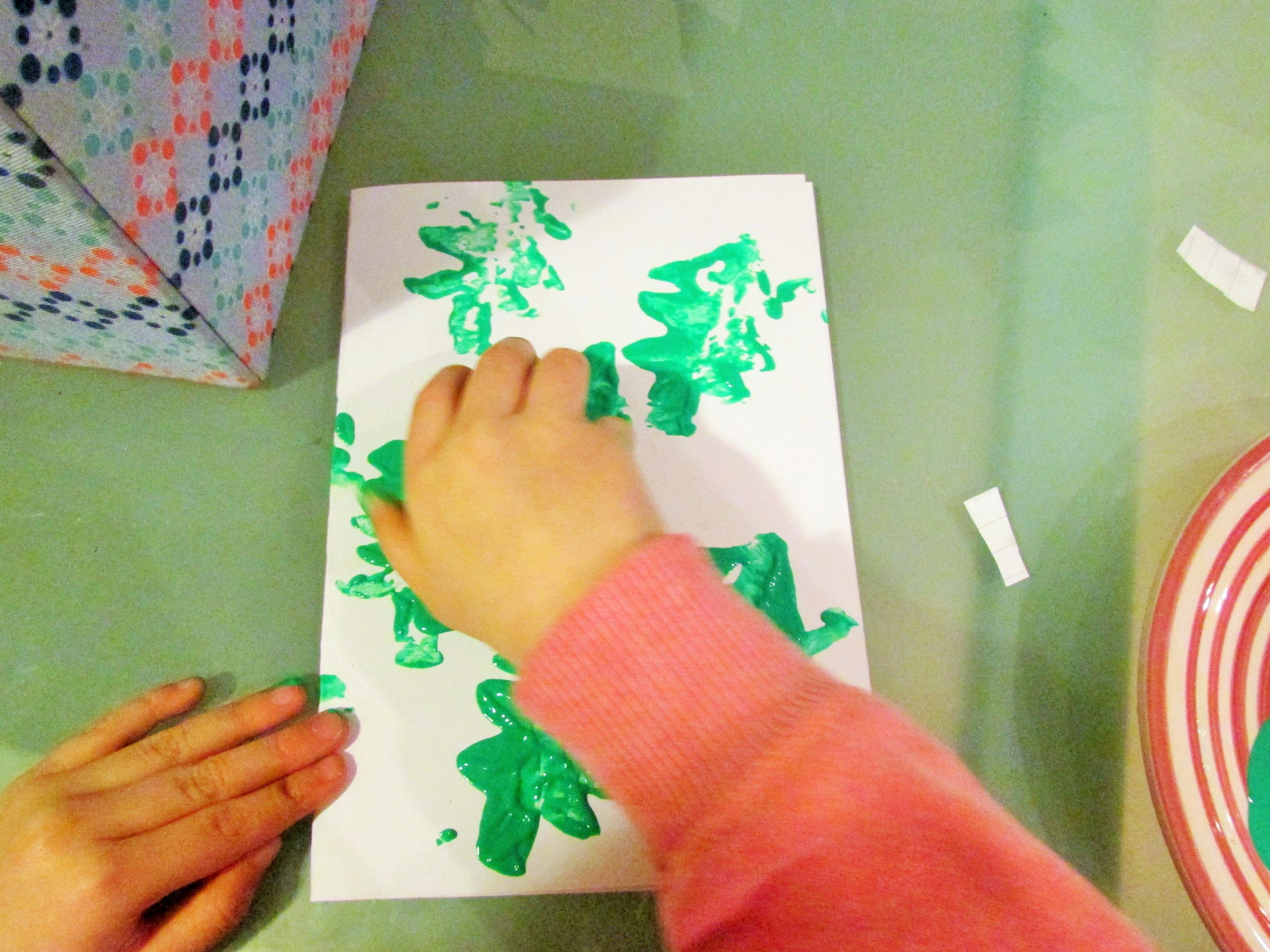 Craft Ideas For Kids  Christmas Potato Stamping