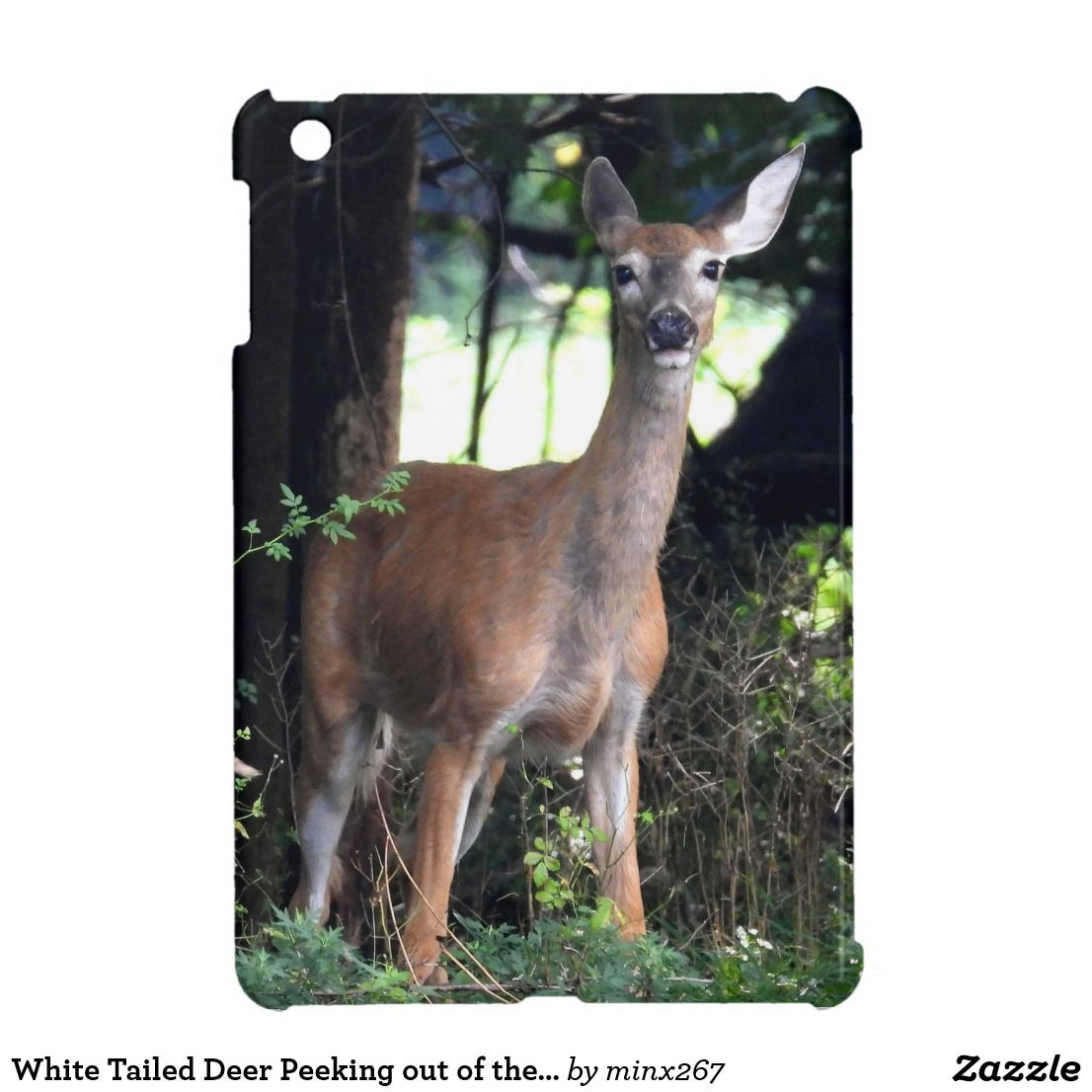 White Tailed Deer Peeking out of the woods Case For The