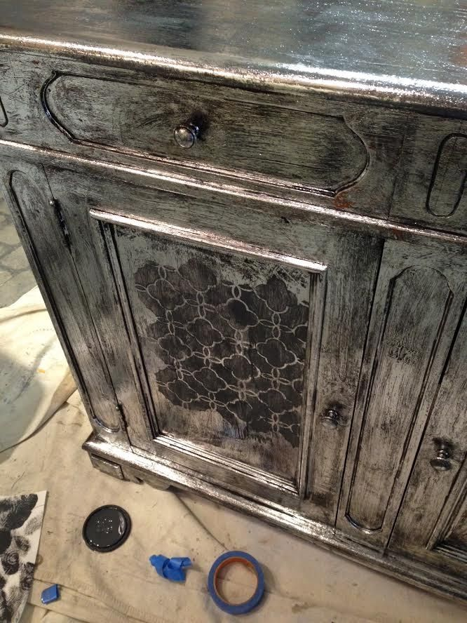 use foil for an easy silver leaf finish upcycled pinterest paint furniture chalk paint. Black Bedroom Furniture Sets. Home Design Ideas